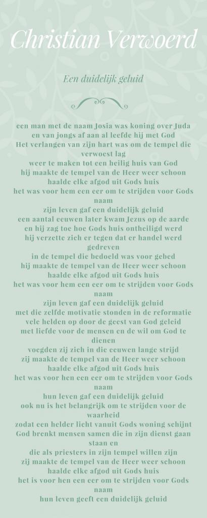 Christan Verwoerd - Een duidelijk geluid.