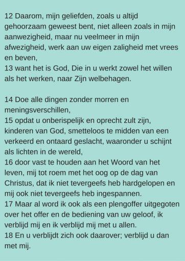 Filippenzen 2:12-18 Basisbijbel